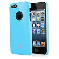 V7 High Gloss Case for iPhone 5/5S - Blue - iPhone - Blue - Glossy - Polycarbonate