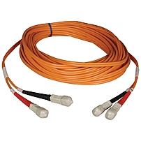 Tripp Lite 9M Duplex Multimode 50/125 Fiber Optic Patch Cable SC/SC 30' 30ft 9 Meter - SC Male - SC Male - 29.53ft - Orange
