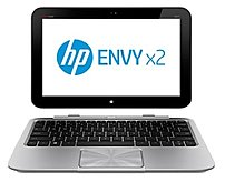 HP Envy X2 C2K61UA 11-G010NR Notebook PC - Intel Atom Z2760 1.8 GHz Dual-Core Processor - 2 GB LPDDR2 SDRAM - 64 GB Solid State Drive - 11.6-inch LED Touchscreen Display - Windows 8 32-bit Edition - S