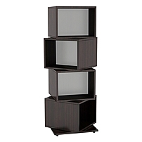 "Atlantic Rotating Cube 216 Disc Media Tower In Espresso - 216 x CD, 144 x DVD, 168 x Blu-ray - 4 Compartment(s) - Compartment Size 8"" x 11.50"" x 5.75"" - 46.9"" Height x 11.7"" Width - Floor - Wood, Steel 2823-5872 2823-5872"