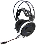 Audio-Technica ATH-ADG1X High-Fidelity Open-Back Gaming Headset - Stereo - Black, Blue - Mini-phone - Wired - 48 Ohm - 5 Hz - 35 kHz - Gold Plated - Over-the-head - Binaural - Circumaural - 3.94 ft Ca