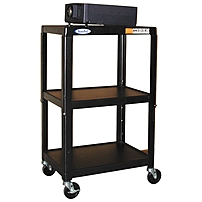 Hamilton Buhl Steel Cart Adjustable with Electric - 450 lb Load Capacity - 3 x Shelf(ves) - 42' Height - Steel