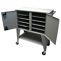 Datamation Systems DS-NSC-10 Mobile Notebook Security Cart - Steel