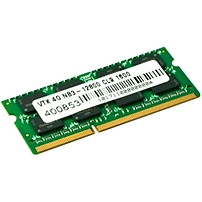 Visiontek 1 x 4GB PC3-12800 DDR3 1600MHz 204-pin SODIMM Memory Module - 4 GB (1 x 4 GB) - DDR3 SDRAM - 1600 MHz DDR3-1600/PC3-12800 - 1.50 V - Non-ECC - Unbuffered - 204-pin - SoDIMM