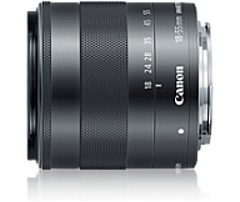 Canon - 18 mm to 55 mm - f/3.5 - 5.6 - Zoom Lens for Canon EF-M - 52 mm Attachment - 0.25x Magnification - 3.1x Optical Zoom - Optical IS - STM - 2.4'Diameter