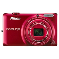 Nikon Coolpix S6500 16 Megapixel Compact Camera - Red - 3' AMOLED - 16:9 - 12x Optical Zoom - 4x - Optical (IS) - 4624 x 3464 Image - 1920 x 1080 Video - HDMI - HD Movie Mode - Wireless LAN - GPS