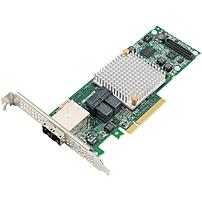Microsemi Adaptec Series 8Q with maxCache Plus - 12Gb/s SAS - PCI Express 3.0 x8 - Plug-in Card - RAID Supported - 0, 1, 1E, 5, 6, 10, 50, 60 RAID Level - 16 Total SAS Port(s) - 2 SAS Port(s) Internal