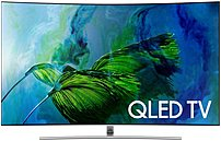 Samsung QN65Q8CAMFXZA 65-inch Curved 4K UHD Smart QLED TV - 3840 x 2160 - 240 Hz - HDMI,USB - Silver