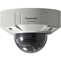 Panasonic WV-S2531LN 3 Megapixel Network Camera - Color, Monochrome - 131.23 ft Night Vision - H.264, H.265 - 2048 x 1536 - 2.80 mm - 10 mm - 3.6x Optical - MOS - Cable - Dome
