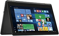 Dell Inspiron 15 7000 Series I7568-6200BLK Convertible Notebook PC - Intel Core i7-6500U 2.5 GHz Dual-Core Processor - 8 GB DDR3L RAM - 512 GB Solid State Drive - 15.6-inch 4K UHD Touchscreen Display