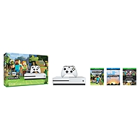 Microsoft Xbox One S Minecraft Favorites Bundle (500GB) - Game Pad Supported - Wireless - White - AMD Radeon Graphics Core Next - 3840 x 2160 - 16:9 - 2160p - Blu-ray Disc Player - 500 GB HDD - Gigabit Ethernet - Bluetooth - - Octa-core (8 Core) ZQ9-0004