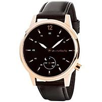 Runtastic Moment Classic - Activity Tracker - Wrist - Calories Burned - Bluetooth - 0.94' - 0.59' - 1.65' - Rose Gold, Black - Glass, Mineral Crystal - Stainless Steel Case - Leather Band - Health & F
