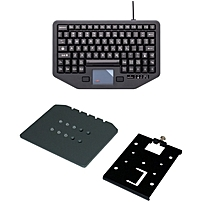 Havis iKey Keyboard - Cable Connectivity - USB Interface - 88 KeyTouchPad - Compatible with Vehicle Mount Computer - Emergency Hot Key(s) - QWERTY Keys Layout