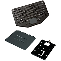 Havis iKey Keyboard - Cable Connectivity - USB Interface - 86 KeyTouchPad - Compatible with Vehicle Mount Computer - Emergency Hot Key(s) - QWERTY Keys Layout