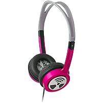 ifrogz Toxix Headphones - Stereo - Hot Pink - Wired - 32 Ohm - 18 Hz 20 kHz - Over-the-head - Binaural - Supra-aural - 3.94 ft Cable