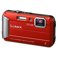 Panasonic Lumix DMC-TS25 16.1 Megapixel Compact Camera - Red - 2.7' LCD - 16:9 - 4x Optical Zoom - 4x - Optical (IS) - 4608 x 3456 Image - 1280 x 720 Video - PictBridge - HD Movie Mode
