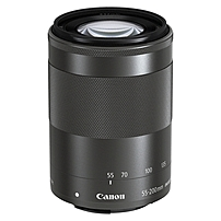 Canon - 55 mm to 200 mm - f/4.5 - 6.3 - Zoom Lens for Canon EF-M - Designed for Camera - 52 mm Attachment - 0.21x Magnification - 3.6x Optical Zoom - Optical IS