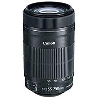 Canon - 55 mm to 250 mm - f/4 - 5.6 - Telephoto Zoom Lens for Canon EF/EF-S - 58 mm Attachment - 0.29x Magnification - 4.5x Optical Zoom - Optical IS - STM - 2.8'Diameter