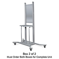 Balt Wall Mount Mobile Stand - 1 x Shelf(ves) - Platinum