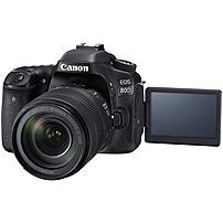 "Canon EOS 80D 24.2 Megapixel Digital SLR Camera with Lens - 18 mm - 135 mm - 3"" Touchscreen LCD - 16:9 - 7.5x Optical Zoom - E-TTL II - 6000 x 4000 Image - 1920 x 1080 Video - HDMI - PictBridge - HD Movie Mode - Wireless LAN 1263C006"
