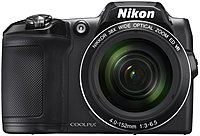 "Nikon Coolpix L840 16 Megapixel Compact Camera - Black - 3"" LCD - 16:9 - 38x Optical Zoom - 4x - Optical, Digital (IS) - TTL - 4608 x 3456 Image - 1920 x 1080 Video - HDMI - HD Movie Mode - Wireless LAN 26485"