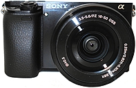 Sony Alpha ILCE-6000L/B a6000 24.3 Megapixels Mirrorless DSLR Camera with 16-50 mm Lens - 3x Optical/4x Digital Zoom - 3.0-inch LCD Display - Built-in Wi-Fi - Black