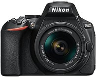 "Nikon D5600 24.2 Megapixel Digital SLR Camera with Lens - 18 mm - 55 mm - 3.2"" Touchscreen LCD - 16:9 - 3.1x Optical Zoom - Optical (IS) - TTL - 6000 x 4000 Image - 1920 x 1080 Video - HDMI - HD Movie Mode - Wireless LAN 1580"