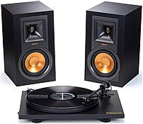 Klipsch 1062948 R-15PM Monitor Turntable Bundle - Brushed Black