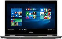Dell Inspiron I5368-10025GRY 2-in-1 Notebook PC - Intel Core i7-6500U 2.5 GHz Dual-Core Processor - 8 GB DDR4 SDRAM - 256 GB Solid State Drive - 13.3-inch Touchscreen Display - Windows 10 Home 64-Bit