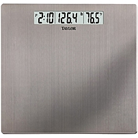 Taylor 7409 Stainless Steel Digital Scale with Time & Temperature - 400 lb / 180 kg Maximum Weight Capacity