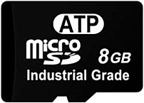 Motorola AF8GUD3-WAAXX ATP 8 GB microSDHC UHS-I Class 10 Flash Memory Card - Black