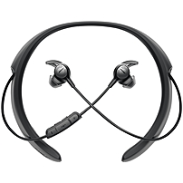Bose QuietControl 30 Wireless Headphones - Stereo - Black - Wireless - Bluetooth - 33 ft - Earbud, Behind-the-neck - Binaural - In-ear - Yes