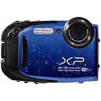 Fujifilm FinePix XP70 16.4 Megapixel Compact Camera - Blue - 2.7' LCD - 16:9 - 5x Optical Zoom - 2x - Optical (IS) - 4608 x 3456 Image - 1920 x 1080 Video - HDMI - PictBridge - HD Movie Mode - Wireles