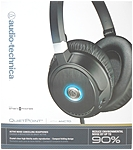 Audio-Technica QuietPoint Active Noise-Cancelling Headphones - Stereo - Black - Mini-phone - Wired - 570 Ohm - 10 Hz - 25 kHz - Over-the-head - Binaural - Circumaural - 3.94 ft Cable - Noise Cancellin