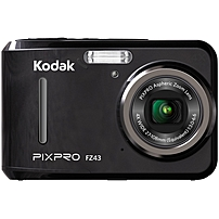 "Kodak PIXPRO FZ43 16.2 Megapixel Compact Camera - Black - 2.7"" LCD - 16:9 - 4x Optical Zoom - 6x - Digital (IS) - TTL - 4608 x 3456 Image - 1920 x 1080 Video - PictBridge - HD Movie Mode FZ43-BK"