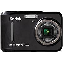 """Kodak PIXPRO FZ43 16.2 Megapixel Compact Camera - Black - 2.7"""" LCD - 16:9 - 4x Optical Zoom - 6x - Digital (IS) - TTL - 4608 x 3456 Image - 1920 x 1080 Video - PictBridge - HD Movie Mode FZ43-BK"""