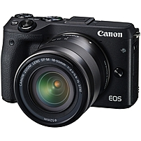 Canon EOS M3 Mirrorless Camera with EF-M 18-55mm and 55-200mm Lenses Black 9694B031