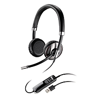 Plantronics Blackwire C720 Headset - Stereo - Black - USB - Wired/Wireless - Bluetooth - 20 Hz - 20 kHz - Over-the-head - Binaural - Supra-aural - Noise Cancelling Microphone