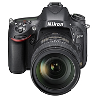 "Nikon D610 24.3 Megapixel Digital SLR Camera with Lens - 28 mm - 300 mm - 3.2"" LCD - 16:9 - 10.7x Optical Zoom - Optical (IS) - 6016 x 4016 Image - 1920 x 1080 Video - HDMI - PictBridge - HD Movie Mode 018208133048"