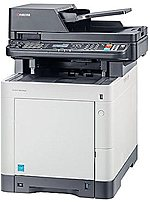 KYOCERA M6530cdn 1102NW2US0 Multifunction Laser Printer - 32 ppm - 9600 x 600 - USB - White/Grey