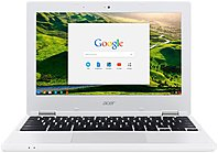 "Acer 11.6"" Chromebook Intel Celeron 2GB Memory 16GB eMMC Flash Memory White NX.G85AA.001"