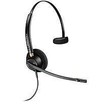 Plantronics Customer Service Headset - Mono - USB - Wired - Over-the-head - Monaural - Supra-aural - Yes