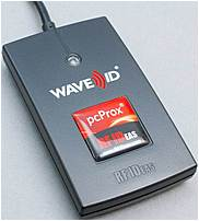 RF_IDEAS pcProx RDR-7081BKU HID iClass RFID Reader - USB - Black