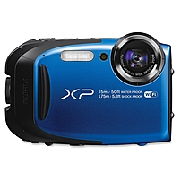 Fujifilm FinePix XP80 16.4 Megapixel Compact Camera - Blue - 2.7' LCD - 16:9 - 5x Optical Zoom - 2x - Optical (IS) - TTL - 4608 x 3456 Image - 1920 x 1080 Video - HDMI - PictBridge - HD Movie Mode - W