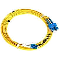 Axiom ST/ST Singlemode Duplex OS2 9/125 Fiber Optic Cable 1m - Fiber Optic for Network Device - 3.28 ft - 2 x ST Male Network - 2 x ST Male Network