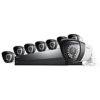 Samsung 8 Channel AIO Security System - Digital Video Recorder - H.264 Formats - 500 GB Hard Drive - 240 Fps - 720 - Composite Video In - 4 Audio In - 1 Audio Out - 1 VGA Out - HDMI