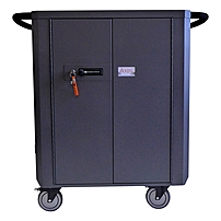 Datamation Systems SafeHarbor2 DS-SHC2-24-NET-SW Laptop Cart - 5' Caster Size - Steel - 38.8' Width x 23.3' Depth x 38' Height