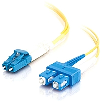 C2G 10m LC-SC 9/125 Duplex Single Mode OS2 Fiber Cable - Yellow - 33ft - Fiber Optic for Network Device - LC Male - SC Male - 9/125 - Duplex Singlemode - OS1 - 10m - Yellow