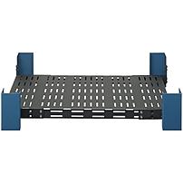 Rack Solutions Mounting Shelf for Rack - 500 lb Load Capacity - Steel - Black