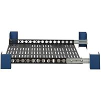 Rack Solutions Mounting Shelf for Rack - 100 lb Load Capacity - Steel - Black